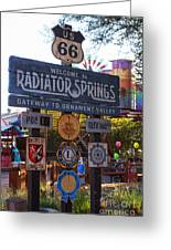 Welcome To Radiator Springs Greeting Card