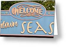 Welcome To Seaside Greeting Card