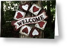 Welcome With Love Greeting Card
