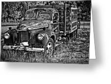 Well Drilling Truck Greeting Card