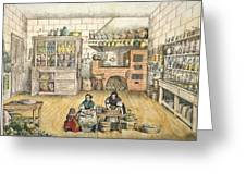 Well Stocked Rustic Kitchen Greeting Card