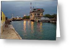 Welland Canal Locks Greeting Card