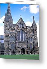 Wells Cathedral In England Greeting Card
