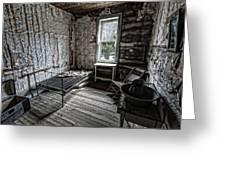 Wells Hotel Room 2 - Garnet Ghost Town - Montana Greeting Card