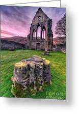 Welsh Abbey  Greeting Card by Adrian Evans