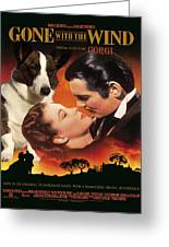 Welsh Corgi Cardigan Art Canvas Print - Gone With The Wind Movie Poster Greeting Card