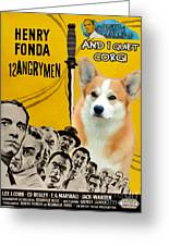Welsh Corgi Pembroke Art Canvas Print - 12 Angry Men Movie Poster Greeting Card