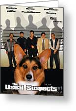 Welsh Corgi Pembroke Art Canvas Print - The Usual Suspects Movie Poster Greeting Card