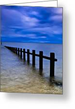 Welsh Seascape Greeting Card by Adrian Evans