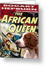 Welsh Springer Spaniel Art Canvas Print - The African Queen Movie Poster Greeting Card