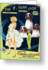 Welsh Springer Spaniel Art Canvas Print - The Seven Year Itch Movie Poster Greeting Card