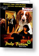 Welsh Springer Spaniel Art Canvas Print - Pulp Fiction Movie Poster Greeting Card