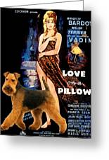 Welsh Terrier Art Canvas Print - Love On A Pillow Movie Poster Greeting Card