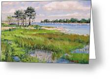 Wentworth By The Sea Greeting Card by Laura Lee Zanghetti
