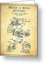 Wesson Hobbs Revolver Patent Drawing From 1899 - Vintage Greeting Card
