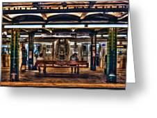 West 4th Street Subway Greeting Card