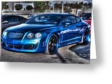 West Coast Bently Cgt Greeting Card