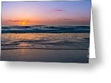 West Coast Sunset Cool Tones Greeting Card