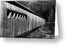 West Dummerston Covered Bridge Greeting Card by Luke Moore