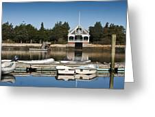 West Falmouth Boat House Greeting Card
