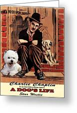 West Highland White Terrier Art Canvas Print - A Dogs Life Movie Poster Greeting Card