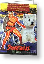 West Highland White Terrier Art Canvas Print - Spartacus Movie Poster Greeting Card