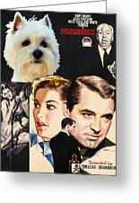 West Highland White Terrier Art Canvas Print - Suspicion Movie Poster Greeting Card