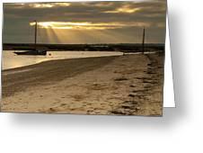 West Mersea Beach Greeting Card