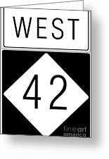 West Nc 42 Greeting Card