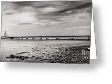 West Of Mackinac Bridge Greeting Card
