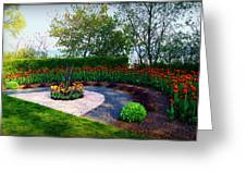 West Of The Lake Gardens Manitowoc Wi Greeting Card