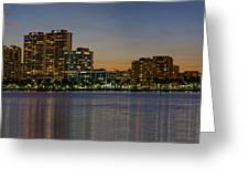 West Palm Beach At Twilight Greeting Card
