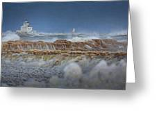 West Pierhead In Ice Greeting Card