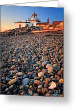 West Point Lighthouse Rocks Greeting Card