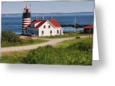 West Quaddy Lighthouse Greeting Card