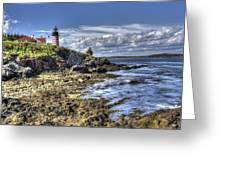 West Quoddy Lubec Maine Lighthouse Greeting Card
