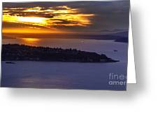 West Seattle Soaring Sunset Greeting Card