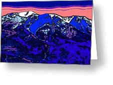 West Spanish Peak- Colorado Greeting Card