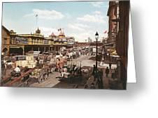 West Street New York 1901 Greeting Card