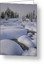 West Thumb Snow Pillows II Greeting Card