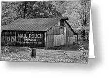 West Virginia Barn Monochrome Greeting Card