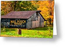 West Virginia Barn Oil Greeting Card
