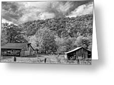 West Virginia Barns Monochrome Greeting Card
