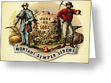 West Virginia Coat Of Arms - 1876 Greeting Card