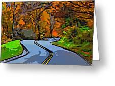 West Virginia Curves 2 Line Art Greeting Card