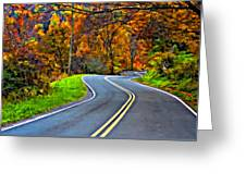 West Virginia Curves Painted Greeting Card