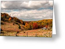 West Virginia Rural Landscape Fall Greeting Card