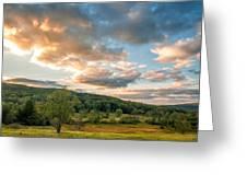 West Virginia Sunset Greeting Card