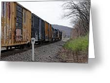 Westbound Train Greeting Card