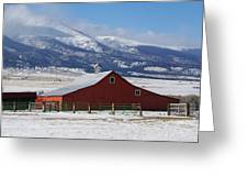 Westcliffe Landmark - The Red Barn Greeting Card